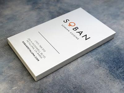 Soban Korean Cuisine business cards collateral brand identity branding