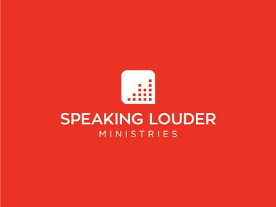 Speaking Louder Ministries illustration brand identity branding logo design