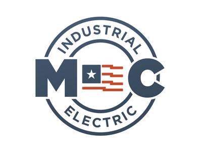 MC Industrial Electric illustration brand identity branding logo design