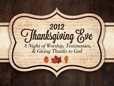 Thanksgiving Eve illustration print church thanksgiving flier