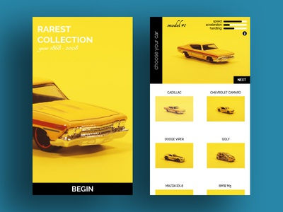 Toy collection UI onlineshop storeapp art abstract cardesign cars webdesign mobile design ux ui