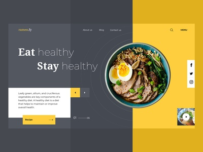 Healthy Living landing page
