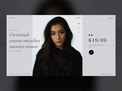 Clothesss fashion shop page