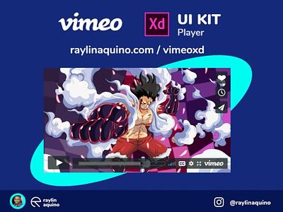 Vimeo UI Player for Adobe XD adobexduikit uikits uikit vimeo webdesign uidesign adobexd