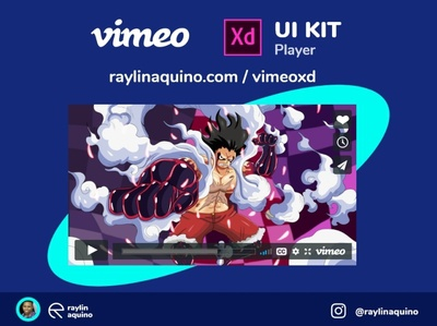 Vimeo UI Player for Adobe XD adobexduikit uikits uikit vimeo webdesign uidesign adobexd