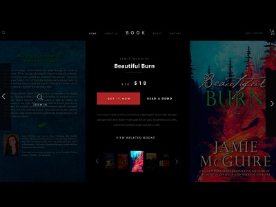 Book Landing Page (above the fold) #DailyUI #DailyUI003 dailyui adobexd web design landing book