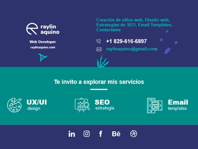 Amazing + Clean Email Signature by Raylin Aquino design adobexd uidesign web web  design email signatures email