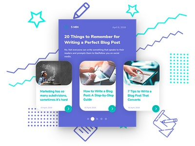 Blogpost Pages Illustration branding ui design illustration vector blog uidesign adobexd raylin
