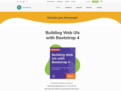 Edufinanzas - Wordpress Website UX/UI woocommerce website design uxui financial services dominican republic wordpress webdesign edufinanzas website design raylin uidesign adobexd