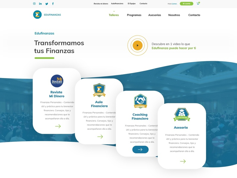 Edufinanzas - Wordpress Website UX/UI woocommerce website design uxui financial services dominican republic wordpress webdesign edufinanzas website design raylin uidesign adobexd