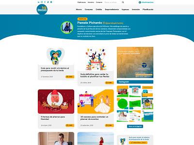 Revista Mi Dinero - Custom Wordpress Website magazine design financial services financial landing page wordpress dominican republic webdesign vector website design raylin uidesign adobexd