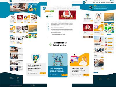 Revista Mi Dinero - Custom Wordpress Website financial services financial landing page wordpress dominican republic webdesign vector website design raylin uidesign adobexd