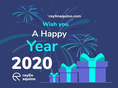 happy New Year 2020 webdesign adobexd 2020 happynewyear