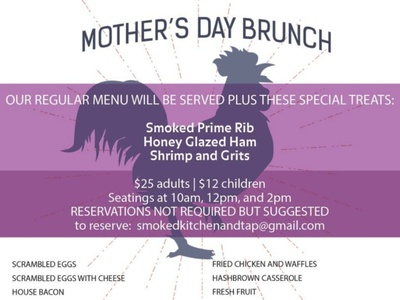 Special Event Catering Menu - Mother's Day Brunch menu design
