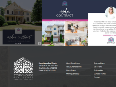 Webpage Development for Local Real Estate Company development web page