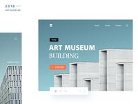 Art gallery homepage conceptual design