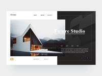 Future studio web interface design