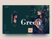 Green photography website concept design