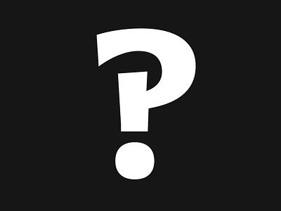 Interrobang Extra Bold type-design letter type typography interrobang