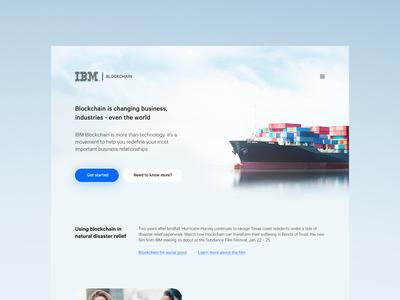 IBM blockchain UI Concept