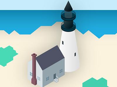 Isometric lighthouse lighthouse isometric art