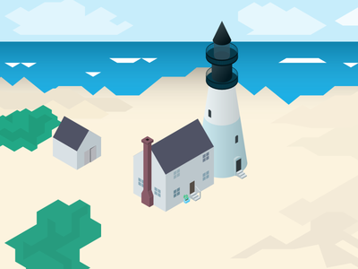 isometric lighthouse 2