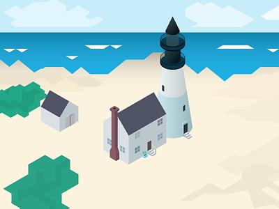 isometric lighthouse 2 isometric lighthouse