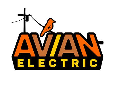 Avian Logo Alternative electric company branding vector illustration