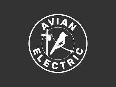 Avian Electric Logo logo electric company branding
