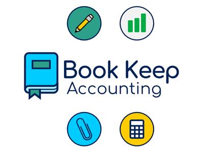 Book Keep Accting Website Graphics flat web vector logo branding