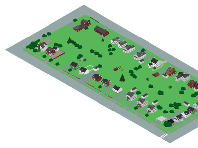 A City Block illustration architechture isometric