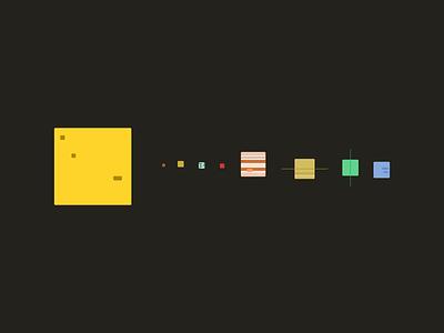 Square System design space art illustration