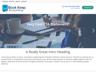 Book Keep Accounting website mock-up logo web development web design