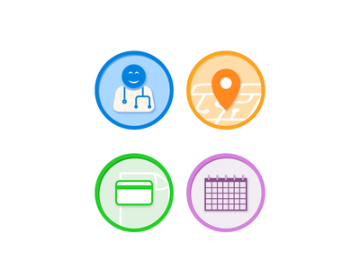 Medical Campaign Icons vector flat  design medical icons medical