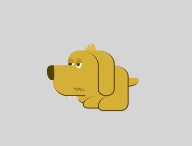 Codee - a CSS dog vector css animation