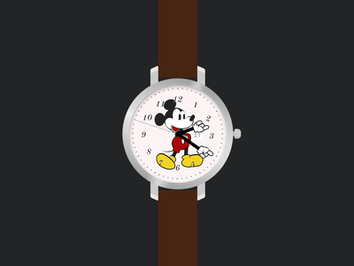What time is it Mickey? (A watch made with CSS) illustration css3 css animation