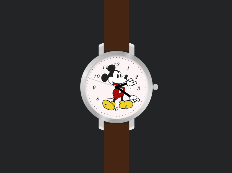 What time is it Mickey? (A watch made with CSS)