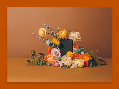 Floral Messaging flowershop trendy eucalyptus pixel 4a phone mobile portrait bouquet floral flowers shapes photography paper zendesk