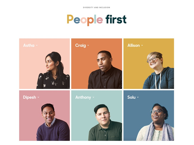 People first colorscheme zendesk web design photo diversity and inclusion photography