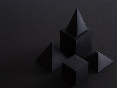 black monochromatic paper shapes structure monochrome black on black zendesk