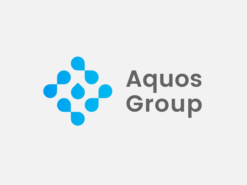 Aquos Group pool swimming aqua group drop water logotype logo aquos
