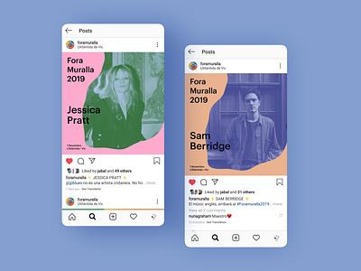 Foramuralla 2019 Instagram design ui music instagram post
