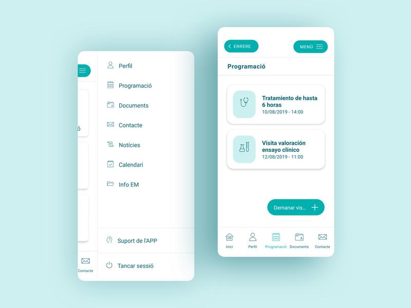 Cemcat APP app appdesign uidesigner multiplesclerosis uidesign ui design ui