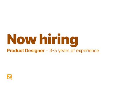 Now Hiring! jobs job careers career hiring product design mid-level