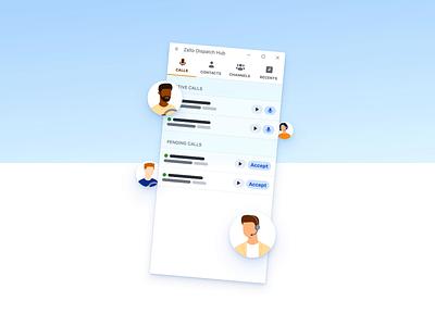 Dispatch Hub Hero Animation illustration desktop app hero demo web js css html ui animation