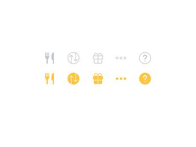 Tastebud Tab Bar Icons ios pictograms pictogram glyphs glyph icons icon bar tabs tab tastebud