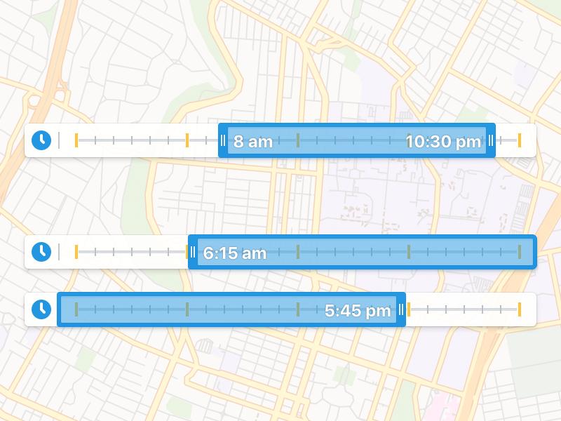 Time Range Selector app web selector range time ui