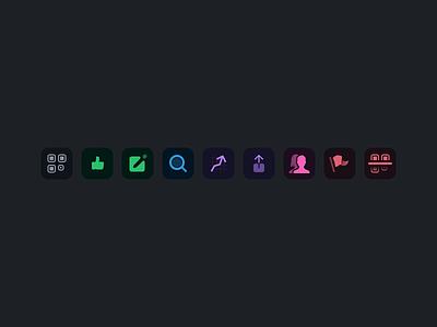 Dark list icons dark glyph roundrect ios list icons icon