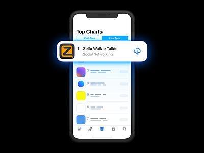 #1 Free App apps walkie-talkie zello iphone ios app store appstore