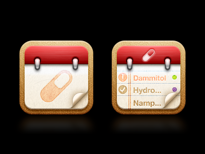 Arex Choices arex med meds medicine pill app calendar timing time schedule notifications icon icons iphone ipad ios retina